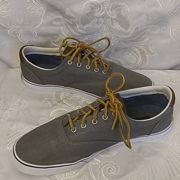 Tommy Hilfiger Other - Tommy Hilfiger Ampost Grey Canvas Sneakers. 9.5